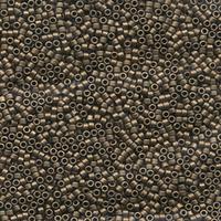 Image Seed Beads Miyuki delica size 11 dark bronze metallic matte