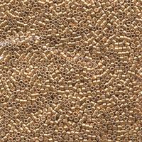 Image Seed Beads Miyuki delica size 11 bright gold galvanized