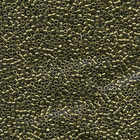 Seed Beads Miyuki delica size 11 olive green galvanized