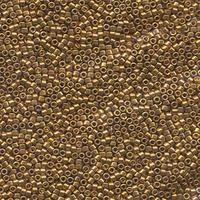 Image Seed Beads Miyuki delica size 11 light bronze 22k plated metallic