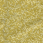 Seed Beads Miyuki delica size 11 pastel yellow silver lined matte