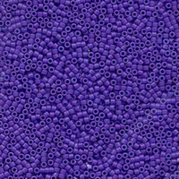 Seed Beads Miyuki delica size 11 bright purple (dyed) opaque