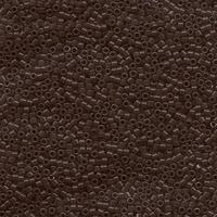 Image Seed Beads Miyuki delica size 11 chocolate brown opaque