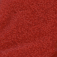 Seed Beads Miyuki delica size 11 red orange transparent matte