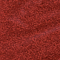 Seed Beads Miyuki delica size 11 red opaque matte