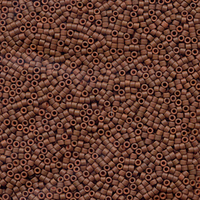 Image Seed Beads Miyuki delica size 11 rusty brown (dyed) opaque semi-matte