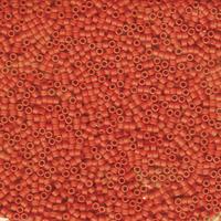 Image Seed Beads Miyuki delica size 11 reddish orange (dyed) opaque semi-matte