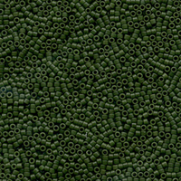 Seed Beads Miyuki delica size 11 jade green (dyed) opaque semi-matte