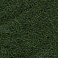 Image Seed Beads Miyuki delica size 11 jade green (dyed) opaque semi-matte