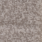 Seed Beads Miyuki delica size 11 frosted grey satin