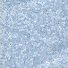 Seed Beads Miyuki delica size 11 frosted light blue satin