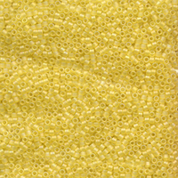 Seed Beads Miyuki delica size 11 yellow ab transparent iridescent matte