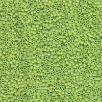 Image Seed Beads Miyuki delica size 11 light lime ab opaque iridescent matte