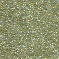 Image Seed Beads Miyuki delica size 11 crystal celery green sparkle color lined
