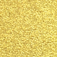 Seed Beads Miyuki delica size 11 canary yellow opaque