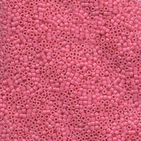 Seed Beads Miyuki delica size 11 bright rose opaque