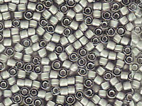 Seed Beads Miyuki delica size 11 white lined grey ab color lined