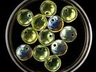 Czech Pressed Glass 6mm lentil pale yellow transparent iridescent