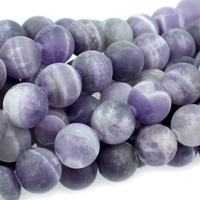 Dog Teeth Amethyst 10mm round purple