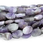 Dog Teeth Amethyst 10 x 14mm oval purple