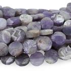 Dog Teeth Amethyst 12mm coin purple