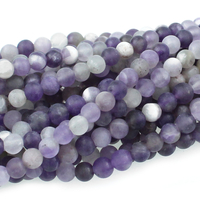 Dog Teeth Amethyst 4mm round purple