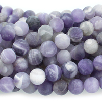 Dog Teeth Amethyst 6mm round purple