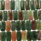 Fancy Jasper 10 x 20mm double drill rectangle mixed colors