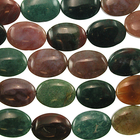 Fancy Jasper 13 x 18mm oval mixed colors