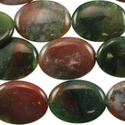 Fancy Jasper 30 x 40mm oval mixed colors