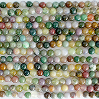 Fancy Jasper 4mm round mixed colors