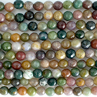 Fancy Jasper 4mm faceted round mixed colors