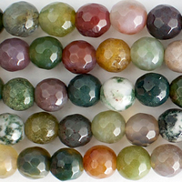 Fancy Jasper 6mm faceted round mixed colors