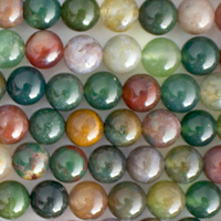 Fancy Jasper 8mm round mixed colors