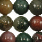Fancy Jasper 12mm round multicolor