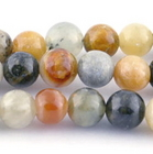 Flower Jade 6mm round earth tones