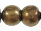 appx 10mm semi-round copper Freshwater Pearl Beads