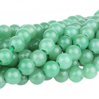 Image Large hole Green Aventurine 8mm round green
