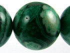 Crazy Lace Agate 16mm round green (dyed)