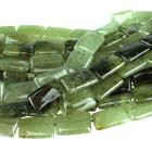 Green Garnet 13 x 18mm  rectangle green