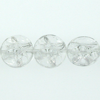 11mm funky pinched coin crystal transparent