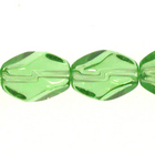 8 x 11mm faceted oval bright green transparent