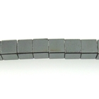 Hematite 4mm cube gunmetal grey
