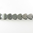 Hematite 4mm heart gunmetal grey