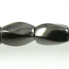 Hematite 6 x 12mm twist oval (4 sided) gunmetal grey