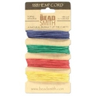 .55mm (10 lb. test) Vibrant shades-blue, green, red and yellow Hemp Twine