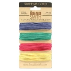 1mm (20 lb. test) Vibrant shades-blue, green, red and yellow Hemp Twine