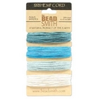 1mm (20 lb. test) Aqua shades Hemp Twine