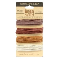 1mm (20 lb. test) Topaz shades Hemp Twine
