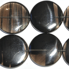 Ice Obsidian 12mm coin banded black and smoky
